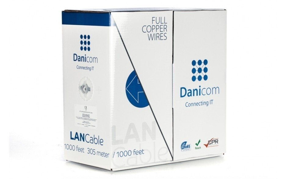 DANICOM CAT6 op rol - 100% koper