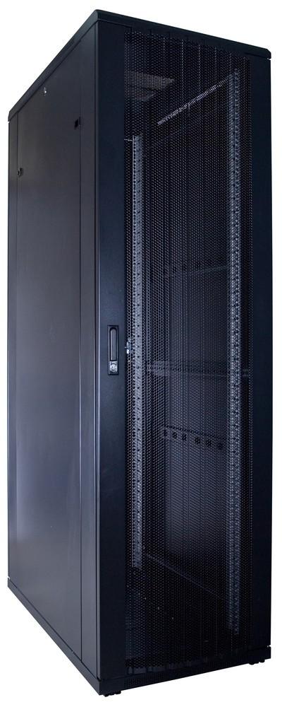 Afbeelding van 42U patchkast met geperforeerde voordeur (BxDxH) 600x1000x2000mm