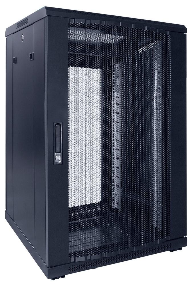 Afbeelding van 18U patchkast met geperforeerde voordeur (BxDxH) 600x600x1000mm