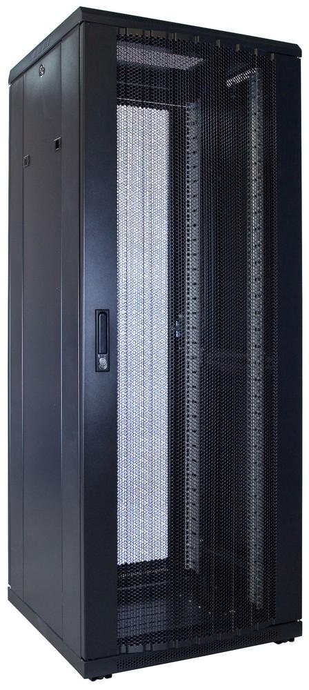 Afbeelding van 32U patchkast met geperforeerde voordeur (BxDxH) 600x600x1600mm