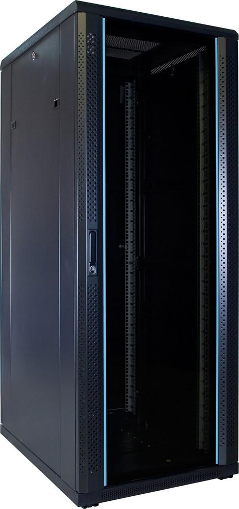 Afbeelding van 32U patchkast ongemonteerd met glazen voordeur 600x800x1600mm (BxDxH)