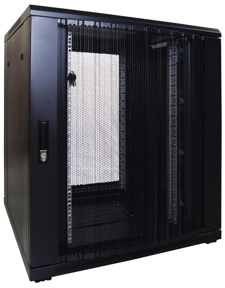 Afbeelding van 18U patchkast met geperforeerde voordeur (BxDxH) 800x800x1000mm