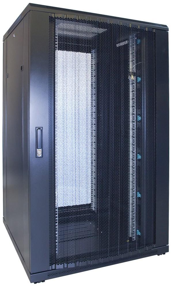 Afbeelding van 27U patchkast met geperforeerde voordeur (BxDxH) 800x800x1400mm