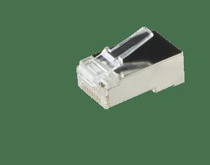 Afbeelding van CAT5 Connector RJ45 - Shielded - voor stranded en solide kabels