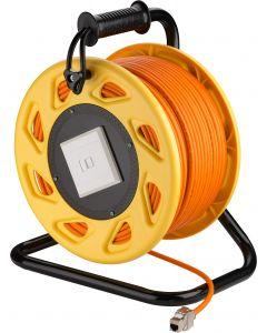 CAT7 S/FTP Kabelhaspel met CAT6a Keystone Connector -  RJ45 - 90 Meter