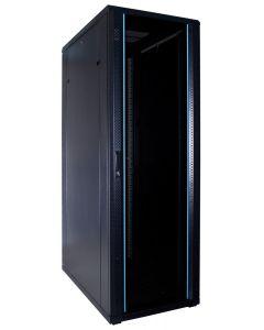 37U patchkast met glazen voordeur (BxDxH) 600x1000x1800mm