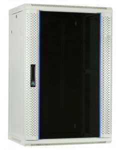 18U Witte Wandkast met glazen deur, 450mm diep