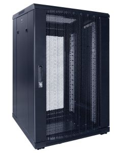 18U patchkast met geperforeerde voordeur (BxDxH) 600x600x1000mm