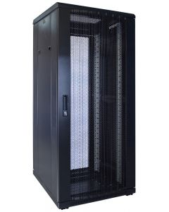 27U patchkast met geperforeerde voordeur (BxDxH) 600x600x1400mm