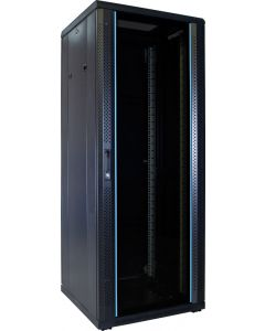 32U patchkast met glazen voordeur (BxDxH) 600x600x1600mm