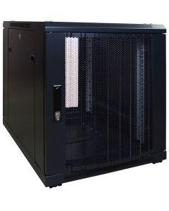 12U mini patchkast met geperforeerde deur, 600mm diep