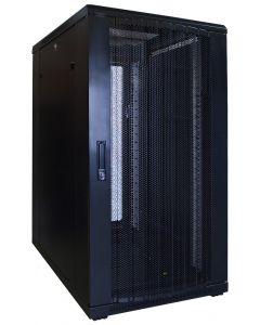 22U patchkast met geperforeerde voordeur (BxDxH) 600x800x1200mm