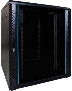 18U patchkast met glazen voordeur (BxDxH) 800x800x1000mm