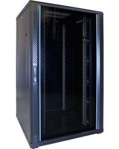 27U patchkast met glazen voordeur (BxDxH) 800x800x1400mm