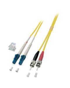 OS2 duplex glasvezel kabel LC-ST 15m