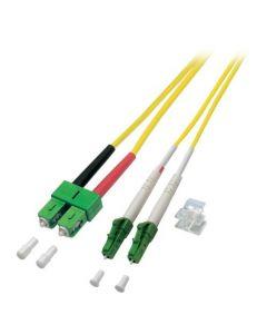 OS2 duplex glasvezel kabel LC/APC-SC/APC 1m