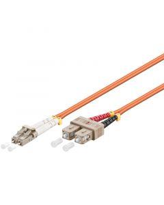 Glasvezel kabel LC-SC OM2 (laser optimized) 2 m