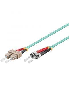 Glasvezel kabel SC-ST OM3 (laser optimized) 0.5 m
