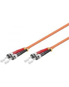 Glasvezel kabel ST-ST OM2 (laser optimized) 15 m