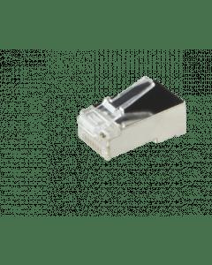 CAT5e Connector RJ45 - Shielded - voor stranded en solide kabels