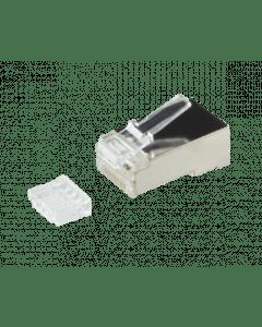 CAT6 Connector RJ45 met hulpstukje - Shielded - voor stranded kabels