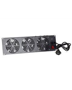Fan-pakket met 3 ventilatoren geschikt om tussen de stijlen te plaatsen - 3U