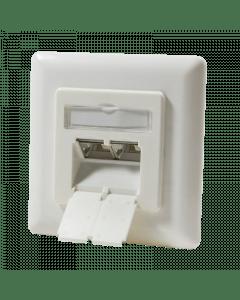 Cat6a UTP / STP inbouwdoos, ivoor