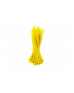 Kabelbinders 280mm geel - 100 stuks