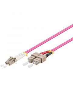 Glasvezel kabel LC-SC OM4 (laser optimized) 0,5 m