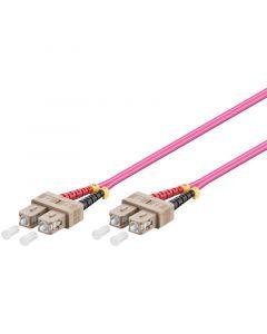 Glasvezel kabel SC-SC OM4 (laser optimized) 1 m