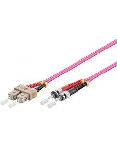 Glasvezel kabel SC-ST OM4 (laser optimized) 2 m