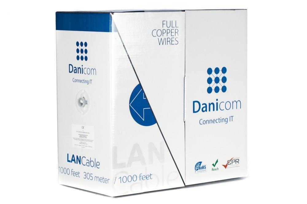 Afbeelding van DANICOM CAT6 FTP 305m op rol soepel - PVC (Fca)