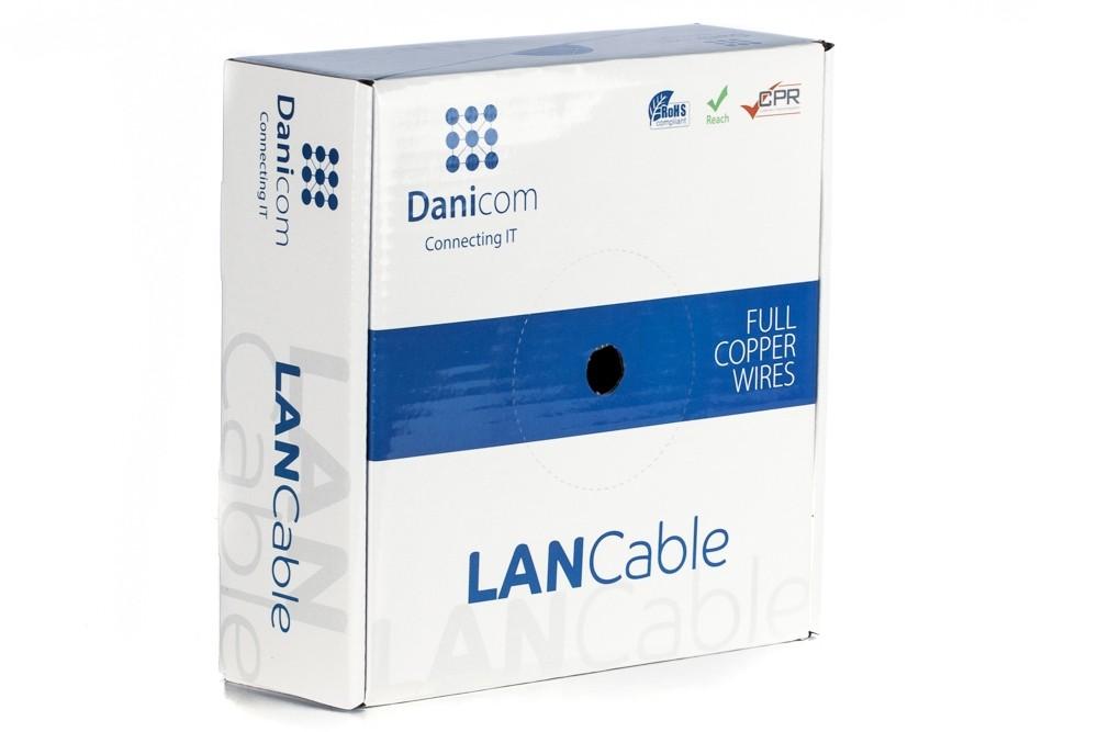Afbeelding van DANICOM CAT6 FTP 50m op rol stug - LSZH (Eca)