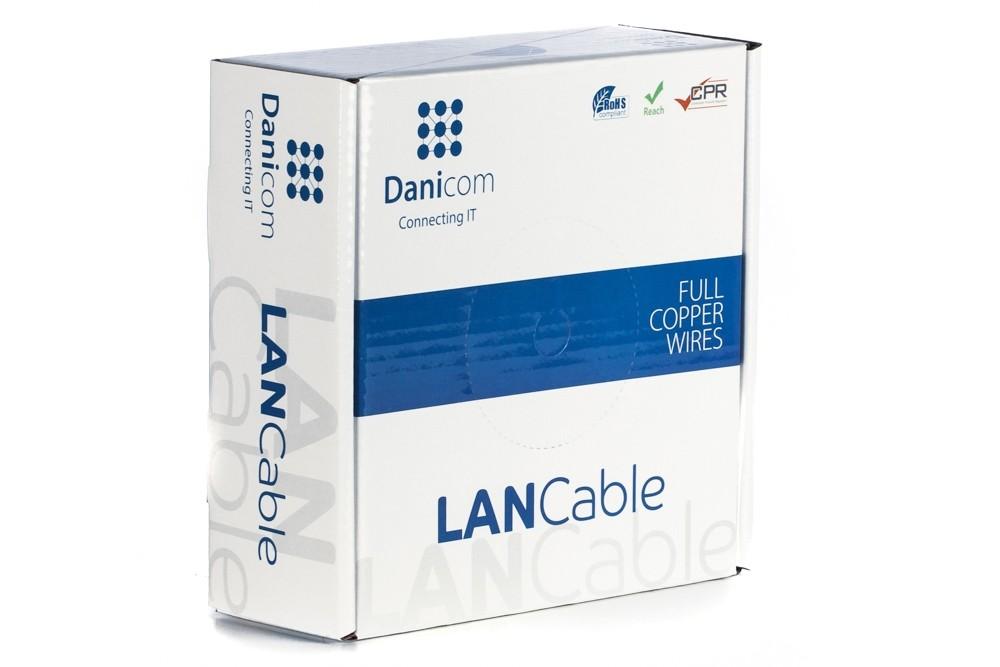 Afbeelding van DANICOM CAT6A S/FTP 50m op rol soepel - PVC (Fca)
