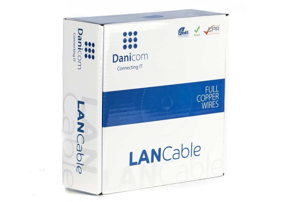 Afbeelding van DANICOM CAT5E UTP 100m op rol soepel - PVC (Fca)