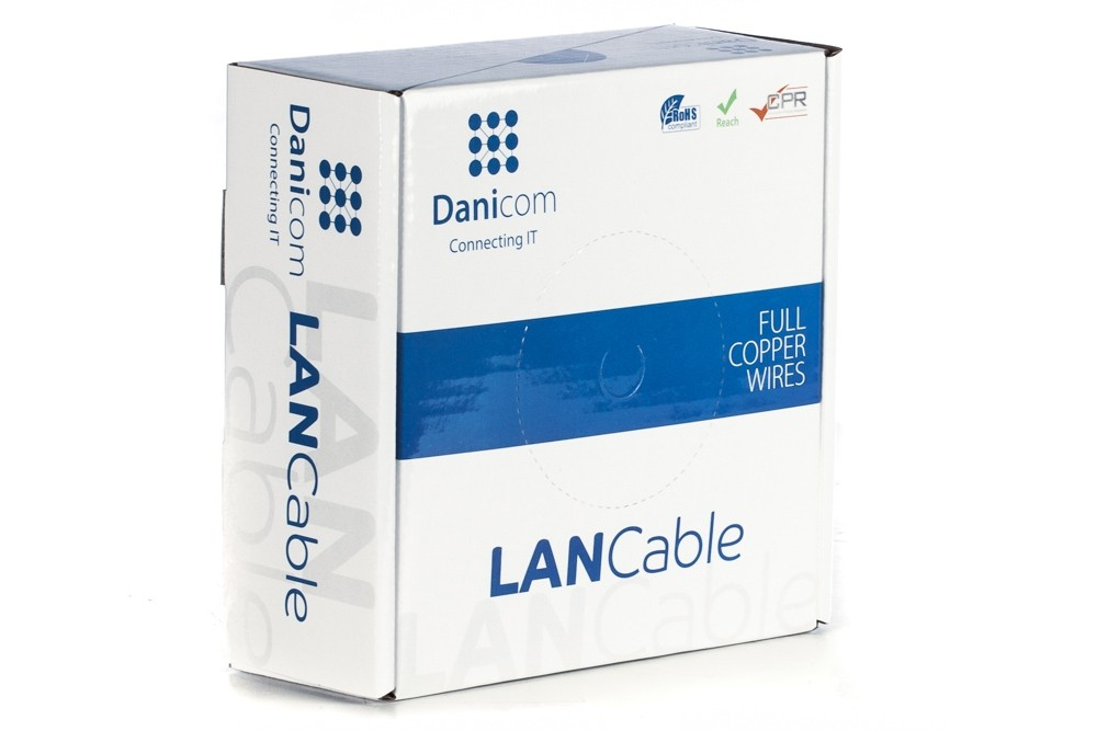 Afbeelding van DANICOM CAT5E UTP 50m op rol soepel - PVC (Fca)