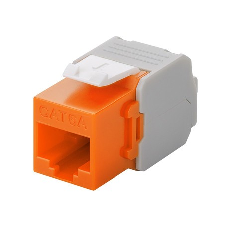 Afbeelding van CAT6a UTP Keystone Connector - LSA - Oranje