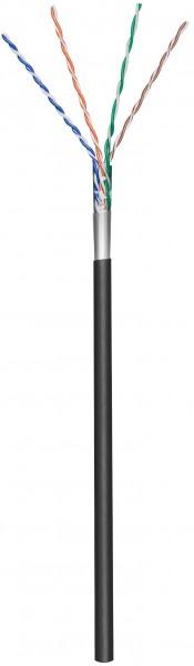 Afbeelding van CAT5e F/UTP 100m buitenkabel op rol stug zwart CCA