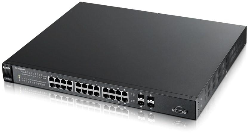 Afbeelding van 24 Ports gigabit managed POE switch - Zyxel