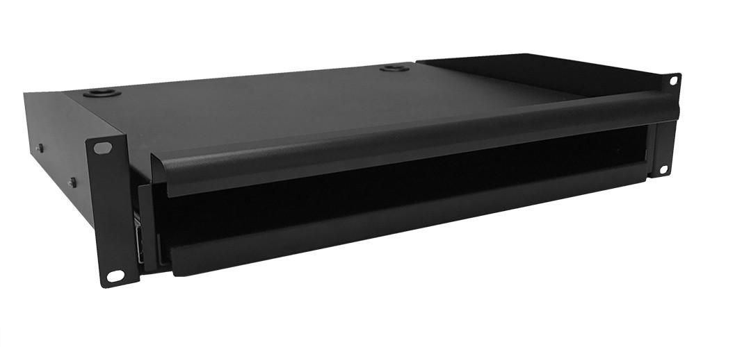 Afbeelding van 2U uitschuifbaar toetsenbord- en muisplank voor alle patchkasten (max. 18 kg)