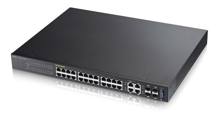 Afbeelding van Zyxel 24-poorts GS2210 managed PoE+ switch