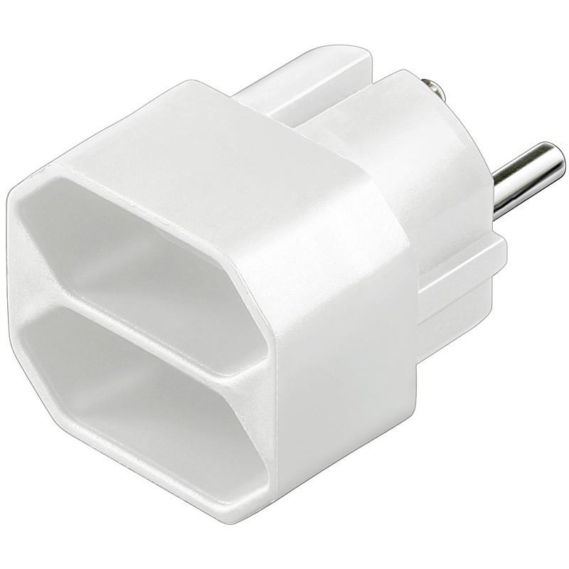 Afbeelding van Stroom adapter 2x europlug wit